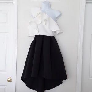 ASOS black & white scuba dress